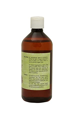 Aceite de ricino 200 ml Virgen, prensado en frío 100% natural y puro: Amazon.es: Belleza