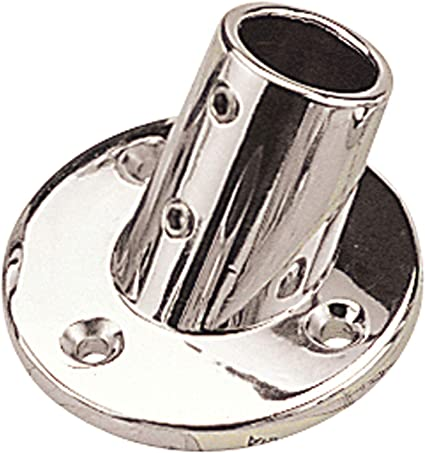 60/° Sea Dog 280600-1   Round Base Rail Fitting