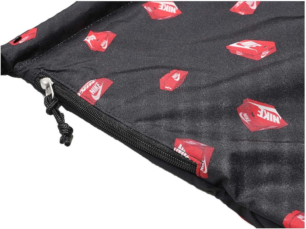 NIKE NK Heritage GMSK 3-GFX, Bolsa de tela y de playa Unisex Adultos, Multicolor (Black/Black/Habanero), 8x15x20 cm (W x H x L): Amazon.es: Zapatos y complementos