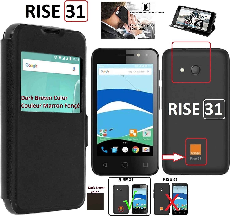 Attention Non Compatible Rise 52 Noir iPOMCASE Etui Housse Coque Pochette Protection Orange Rise 54