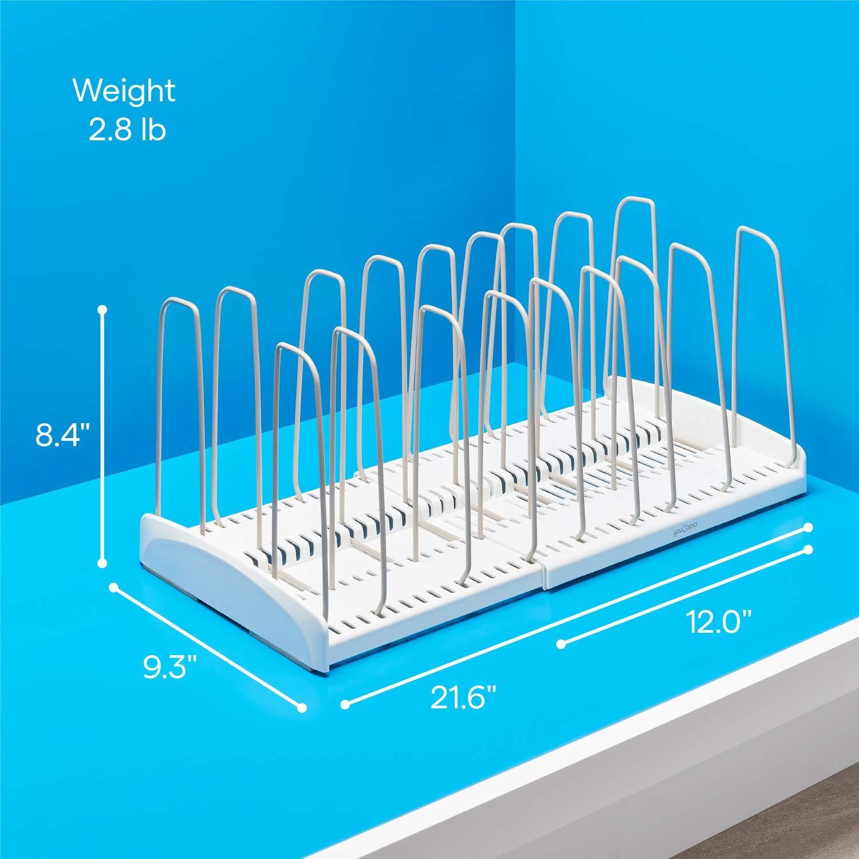 YouCopia StoreMore Verstellbares Kochgeschirrregal Einheitsgr/ö/ße 6 Adjustable diviers wei/ß