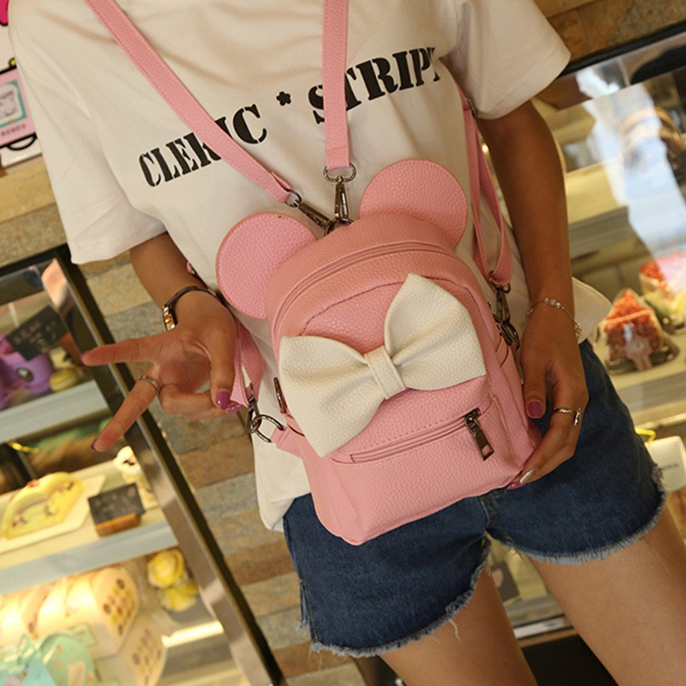 Ourhomer  Clearance Sale Wallet Purse New Mickey Backpack Female Mini Bag Women's Backpack (Pink) by Ourhomer (Image #2)