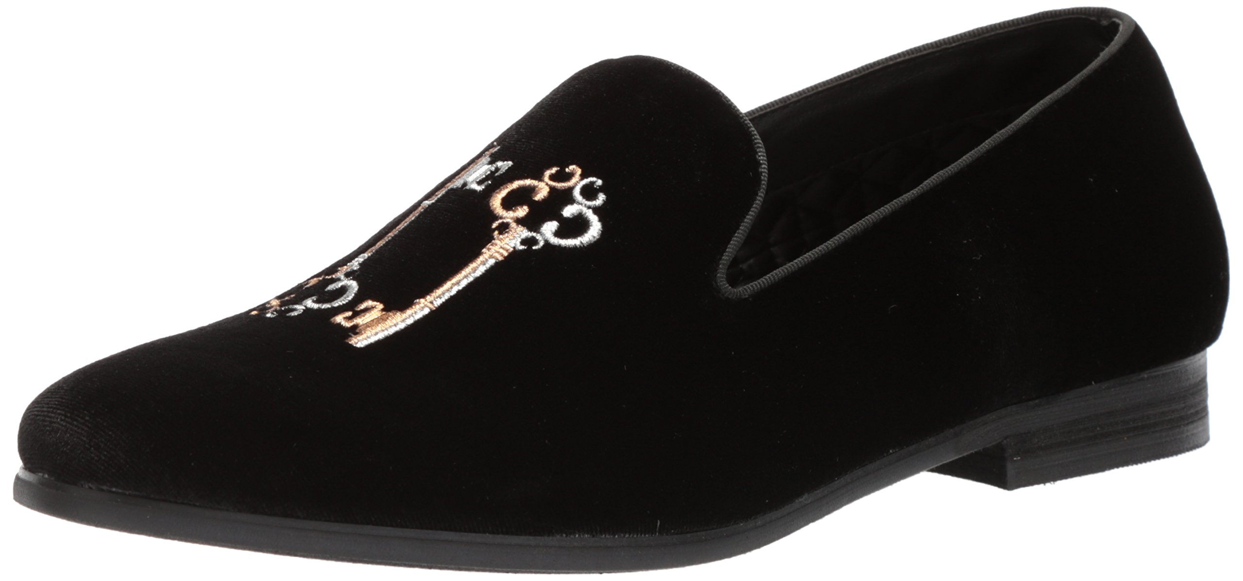 Steve Madden Men's Clues Loafer, Black Velvet, 10.5 M US