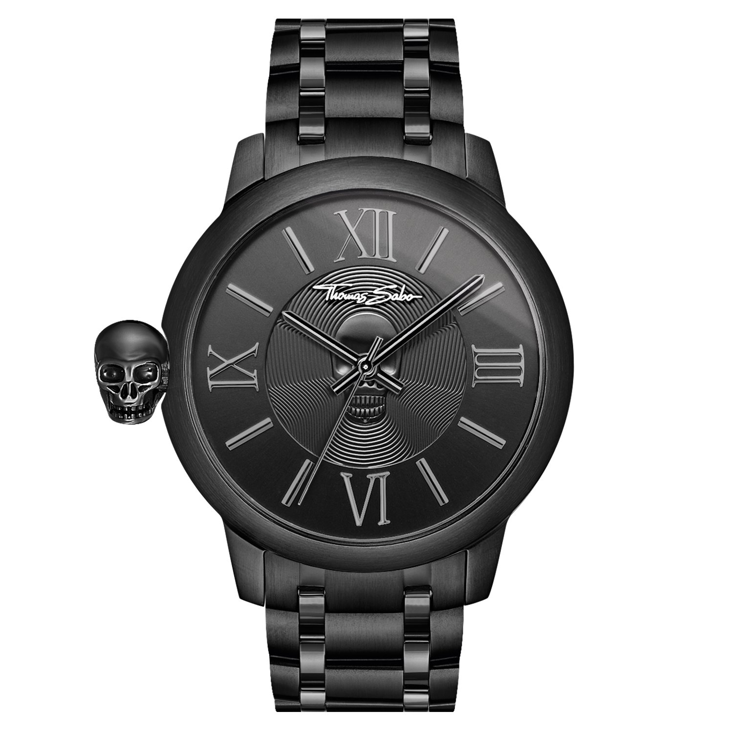 Thomas Sabo Reloj para señor Rebel with Karma Negro WA0305-202-203-46 mm