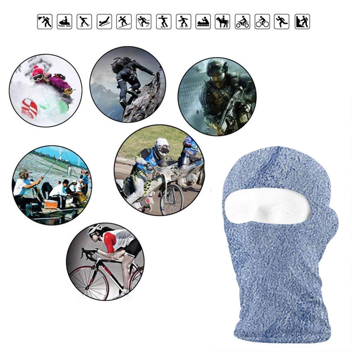 Men /& Women Blue Sand Background Winter Balaclava Face Mask Windproof Ski Mask for Motorcycle Skullies