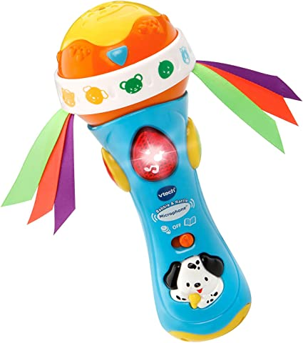 Microphone Toy Baby Babble and Rattle VTech Shake Musical Learn New Free Ship