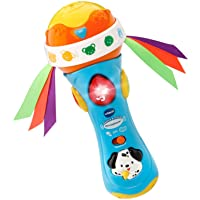 VTech Baby Babble and Rattle Microphone, Blue, Great Gift For Kids, Toddlers, Toy for Boys and Girls, Ages Infant, 1, 2, 3
