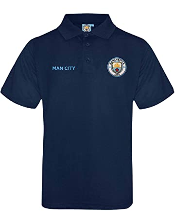 c3d38b059fb Official Manchester City Crest Polo Shirt (Adults Sizes S to 3XL)