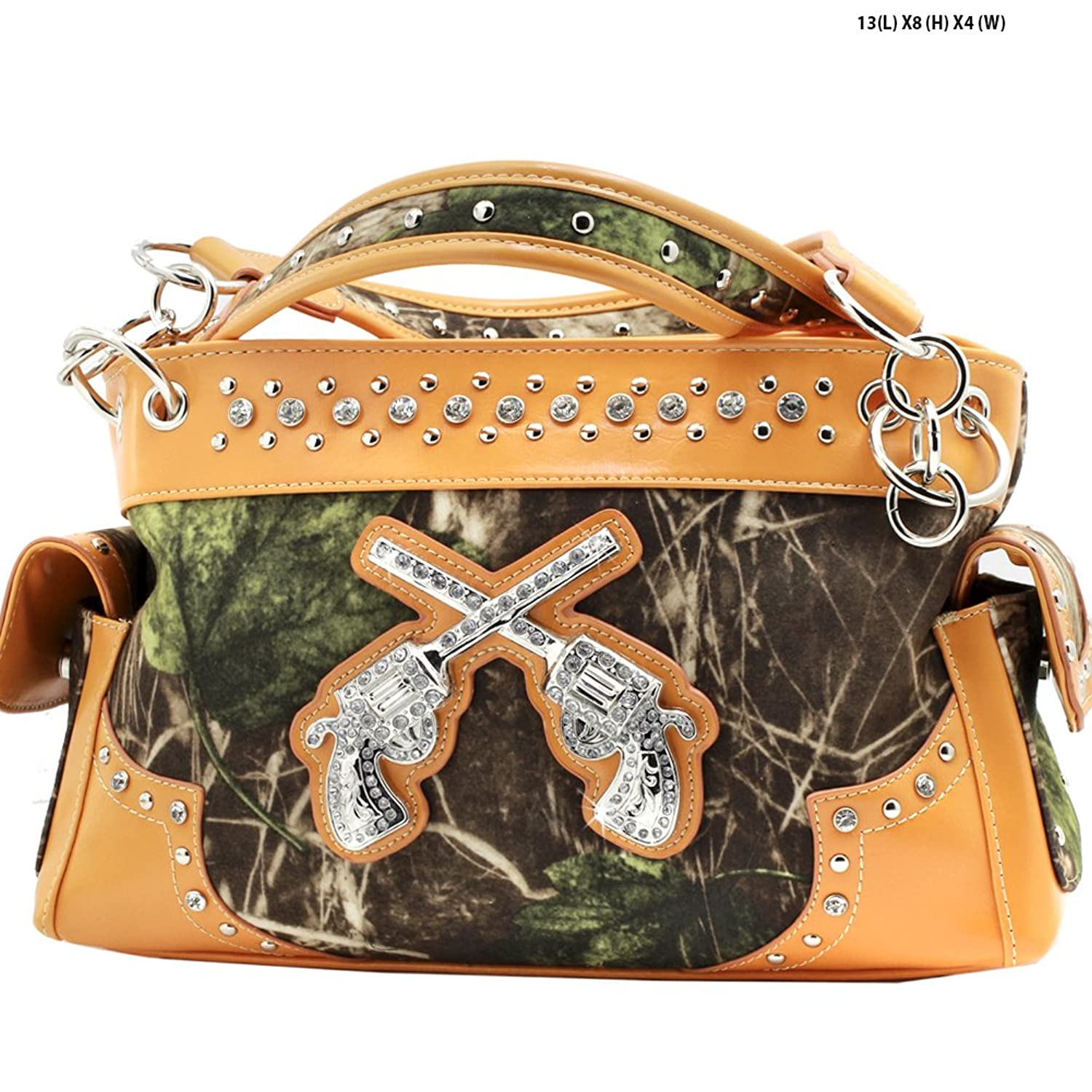 Western Concealed Carry Crossed Guns Purse Camouflage Camo Handbag D3