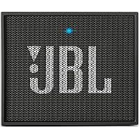 JBL Go - Altavoz portátil para Smartphones, Tablets y Dispositivos MP3(3 W, Bluetooth, Recargable, AUX, 5 Horas), Color Negro
