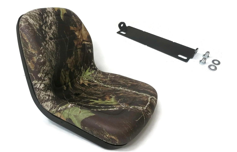 New Camo HIGH BACK SEAT w// Pivot Rod Bracket for John Deere X500 X520 X530