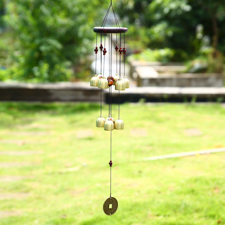 Soledi Wind Chimes Creative Retro Copper 10 Bells