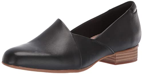 CLARKS Women's Juliet Palm Loafer, Black Leather, 50 M US best women's dressy flats