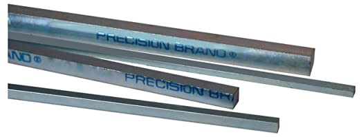 Oversized Tolerance Zinc Plated 12 Length Steel Key Stock 3//4 Width 3//4 Thickness Pack of 4