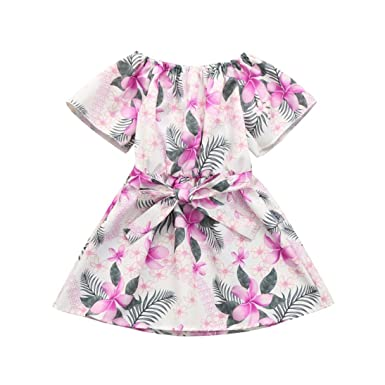 Verano Vestido Para Niñas Lenfesh Floral Imprimir Vestidos