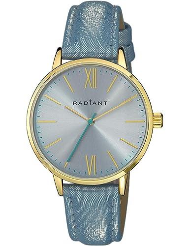 Radiant Reloj Analógico para Mujer de Cuarzo con Correa en Cuero RA429603: Amazon.es: Relojes