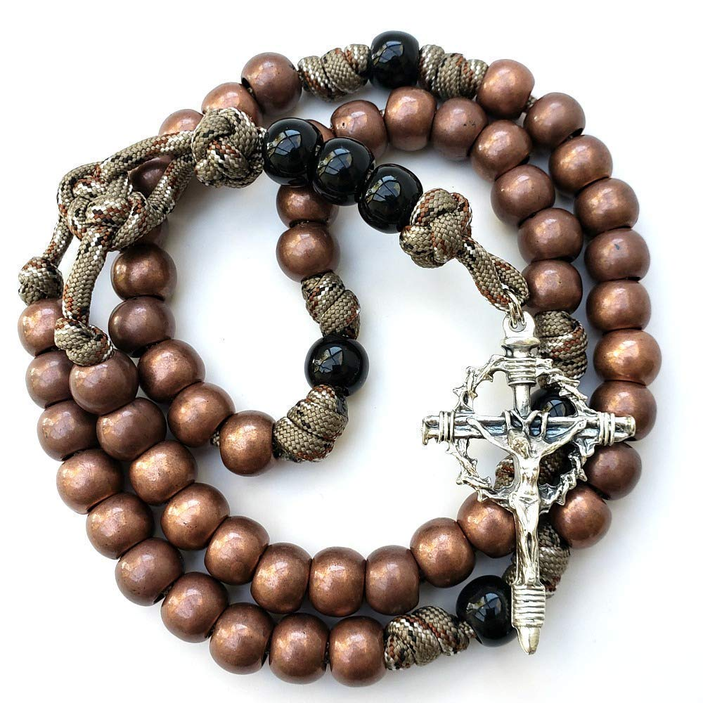 Rugged Rosaries® - Paracord Military Rosary in Rattlesnake color
