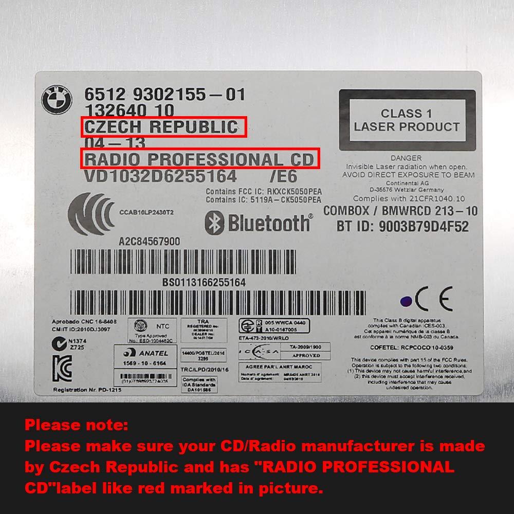CD display for BMW E90 E91 E92 Mini Cooper RADIO PROFESSIONAL Not Alpine version 2007-2014