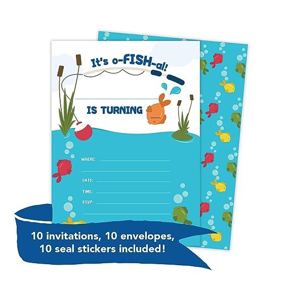 Amazon.com: Tarjetas de invitación para cumpleaños con ...