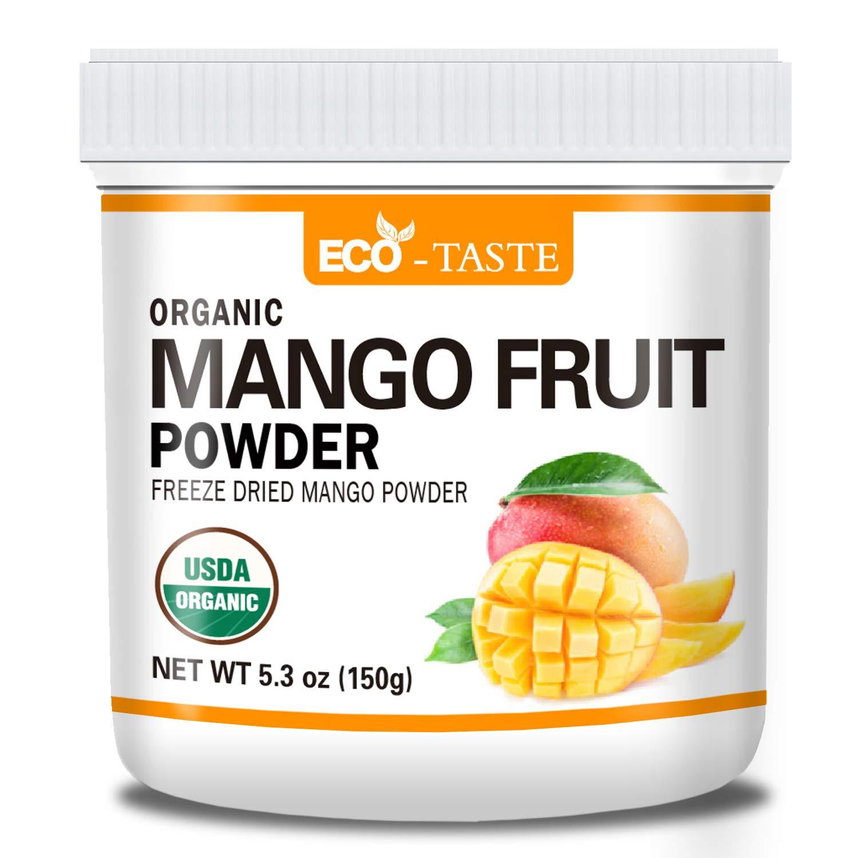 Organic Freeze Dried Mango Fruit Powder, 5.3oz(150g), 100% Pure, No Gmo, Vegan Friendly