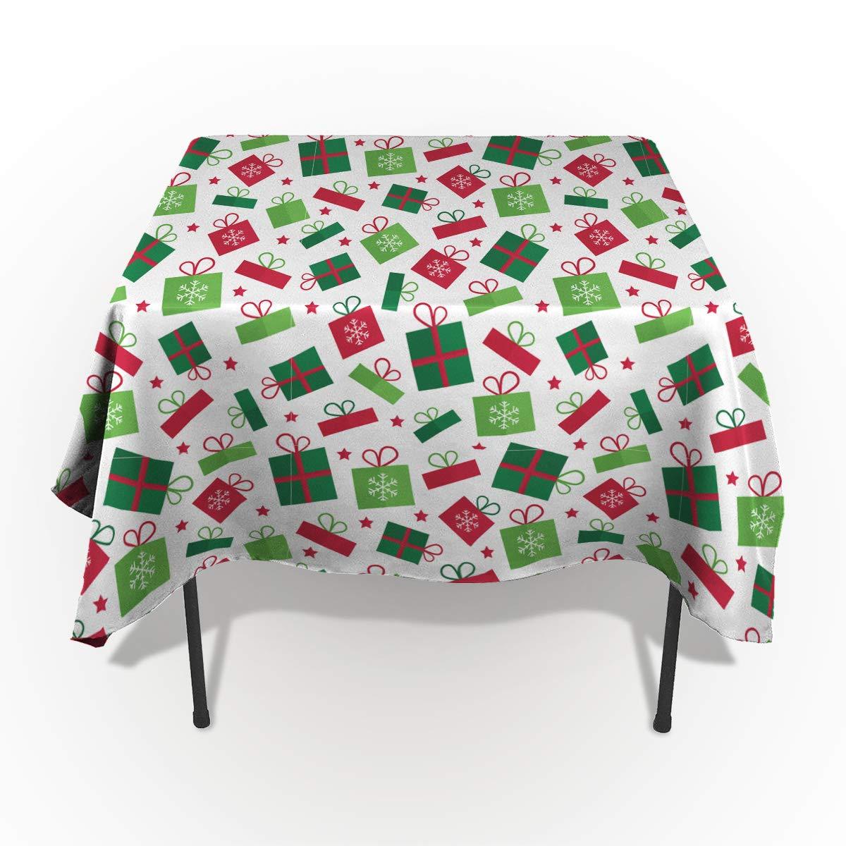 Fantasy Star 長方形ポリエステルテーブルクロス メリークリスマス トナカイテーブルクロス 洗濯機洗い可能 テーブルカバー キッチン ダイニング 宴会 パーティー 60