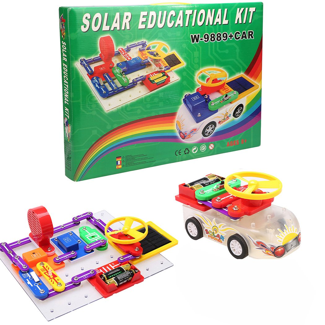 Funmily 10000 Kids Solar Electronics Discovery Kit DIY Educational Science Toy with Solar Energy Car by Funmily