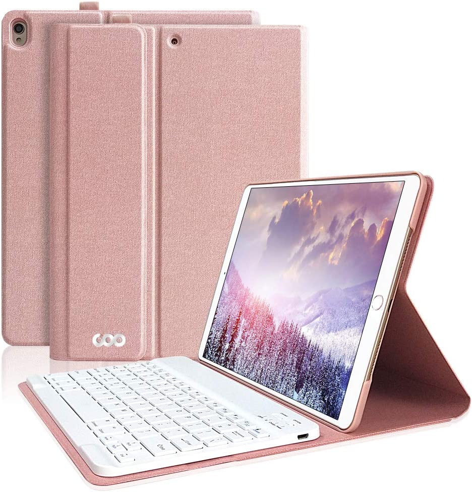 iPad Keyboard Case 10.5 for iPad Air 3rd Gen 2019 10.5/iPad Pro 10.5 2017-Detachable Wireless Bluetooth Keyboard with Magnetic Smart Case Cover for New iPad Air 10.5 Inch