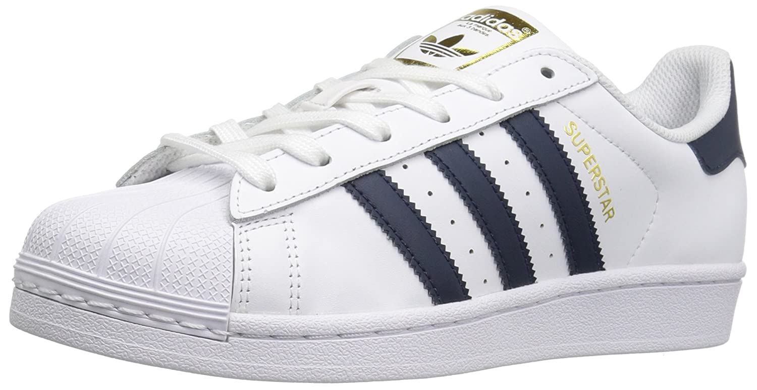 adidas White/Collegiate Superstar W, Sneakers Basses Femme, Weiß Basses White/Collegiate Femme, Navy/Metallic/Gold becde81 - automatisms.space