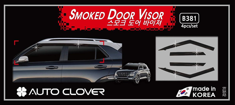 AUTOCLOVER Smoked Side Window Deflectors 4p for 2020 Hyundai Venue