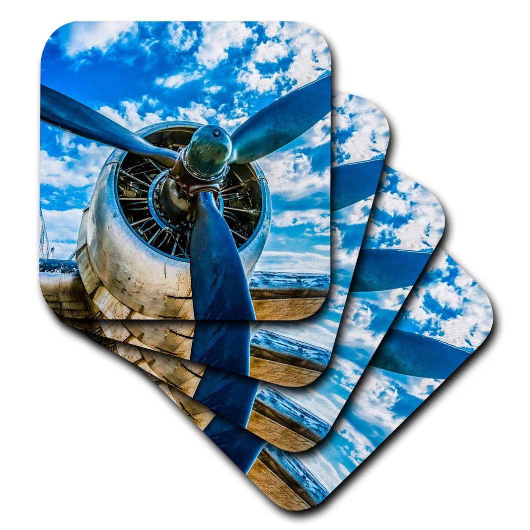 3drose Alexis写真 – Transport Airの抽象化 – 航空 – ヴィンテージの飛行機のピストンエンジン、ブルースカイ – コースター set-of-8-Soft cst_271980_2 set-of-8-Soft  B078HCW588