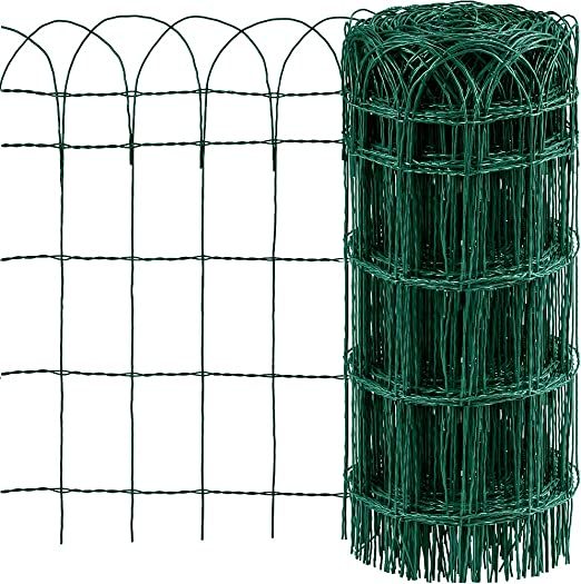 Amagabeli Valla para Jardín 0.65Mx25M Metal Valla Decorativa Hierro para Jardín Metal Bordes para Césped de Jardín lecho de Flores de protección Vegetal HC02: Amazon.es: Jardín