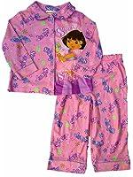 Nickelodeon Toddler Girls Pink Dora Sleepwear Set Super Sweet Pajamas PJs 2T
