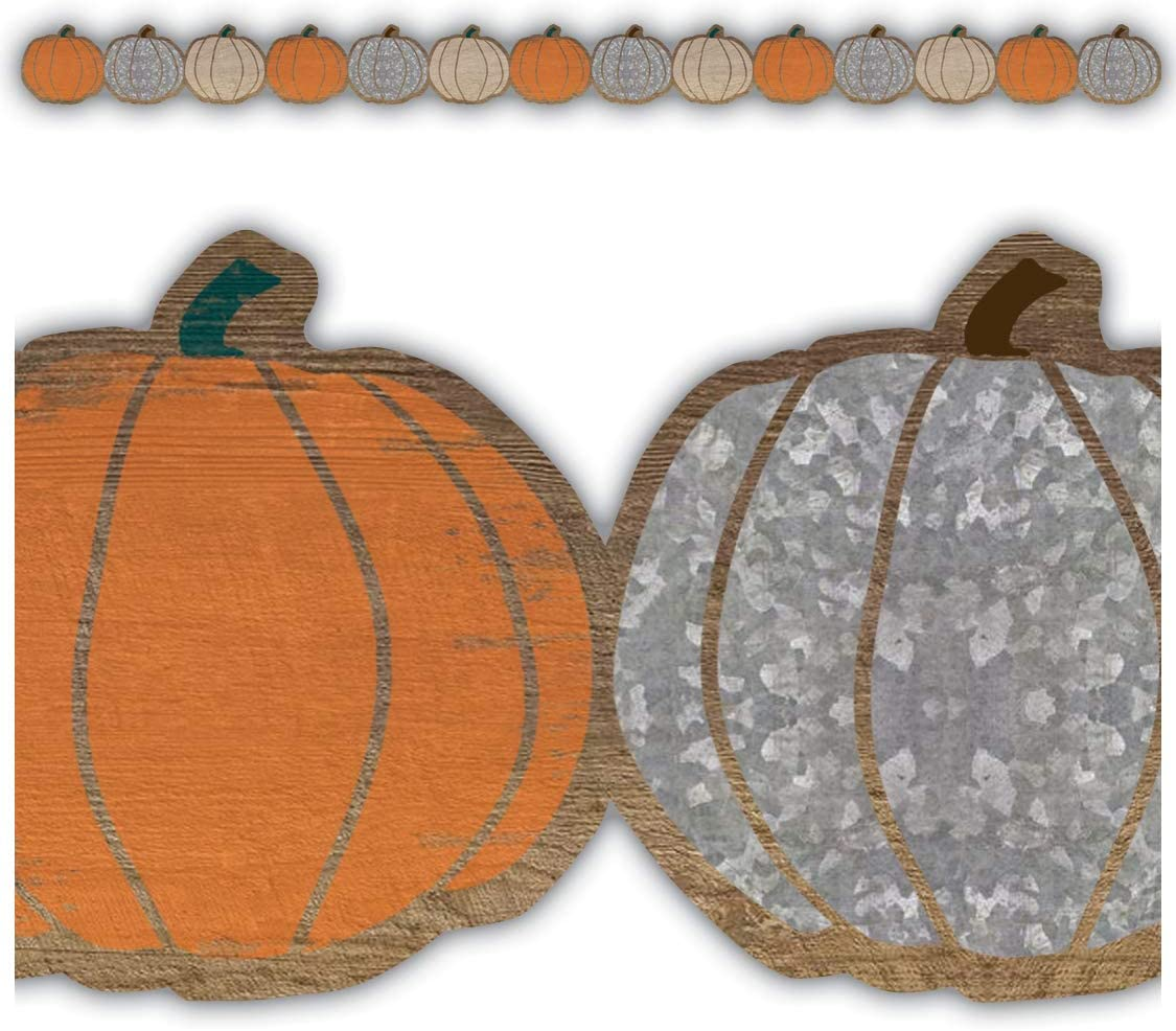 Teacher Created Resources Home Sweet Classroom Pumpkins Die-Cut Border Trim (TCR8454)