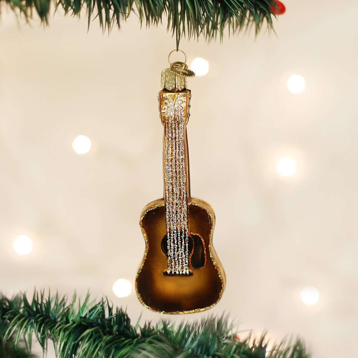 Amazon.com: Old World Christmas Guitar Glass Blown Ornament: Home ...