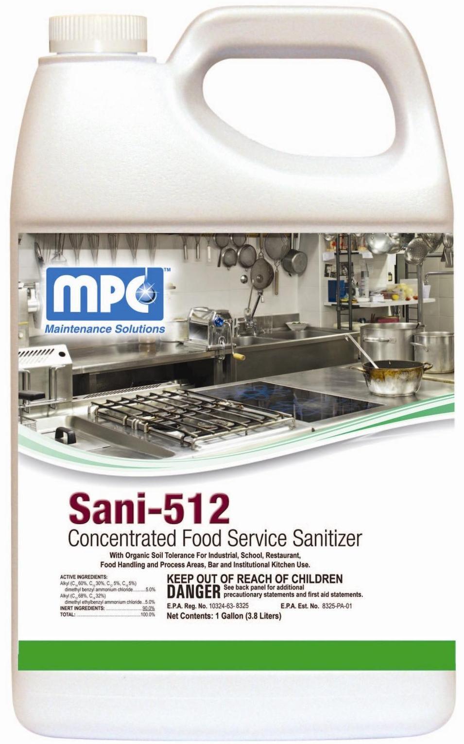 Sani 512 Sanitizer, Disinfectant & Deodorant - 4 Gallons/Case