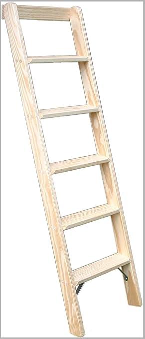 Anlegeleiter 5 Stufen Holz Deko Holzleiter Stufenleiter Hochbett Leiter
