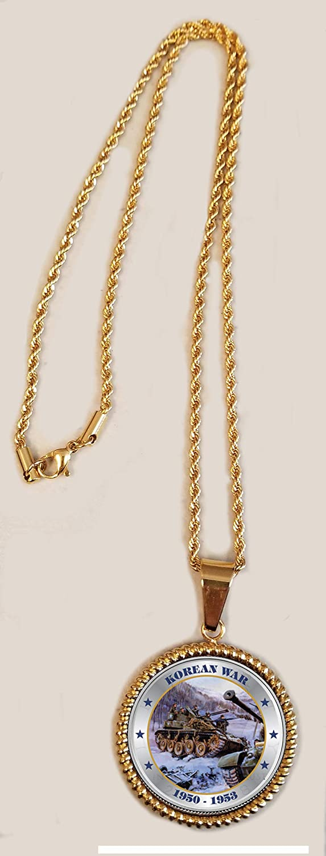 The Matthew Mint JFK Half Dollar Korean War Tribute Necklace