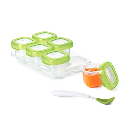Amazon.com : OXO Tot Baby Blocks Freezer Storage Containers, Green, 2 Ounce : Baby Food Storage Containers : Baby
