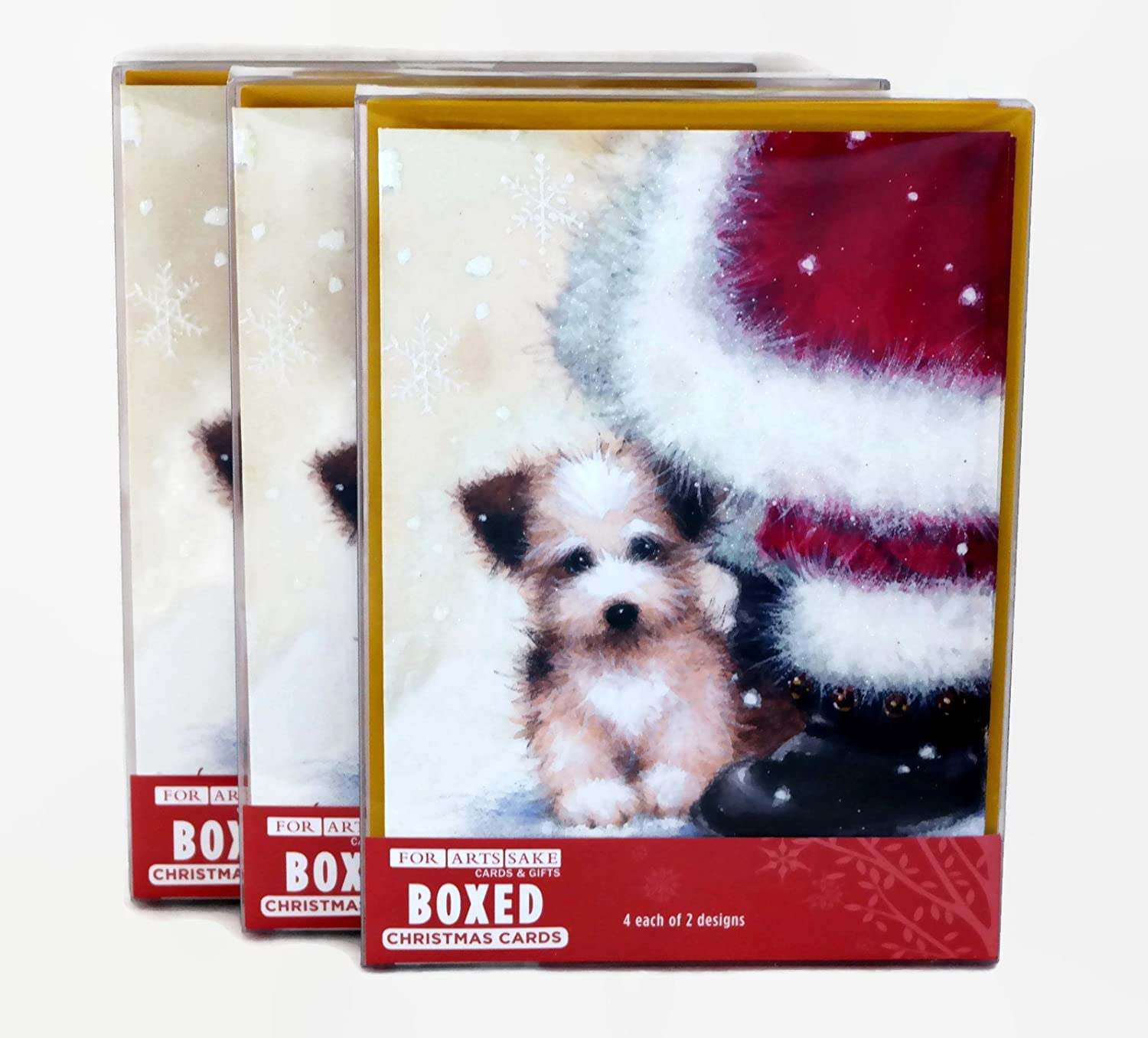 Amazon.com : Merry Christmas Holiday Greeting Cards, Adorable Puppy ...