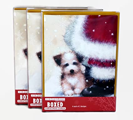 Amazon merry christmas holiday greeting cards adorable puppy merry christmas holiday greeting cards adorable puppy and kitten designs 24 cardsenvelopes m4hsunfo