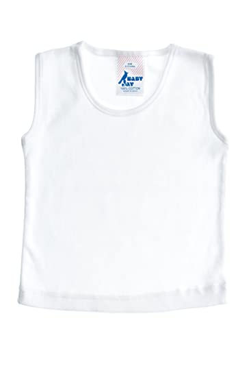 c03a44a2a Amazon.com: Baby Jay Unisex Baby Sleeveless Tank Top, White, 0-3 Months:  Infant And Toddler Tank Top And Cami Shirts: Clothing