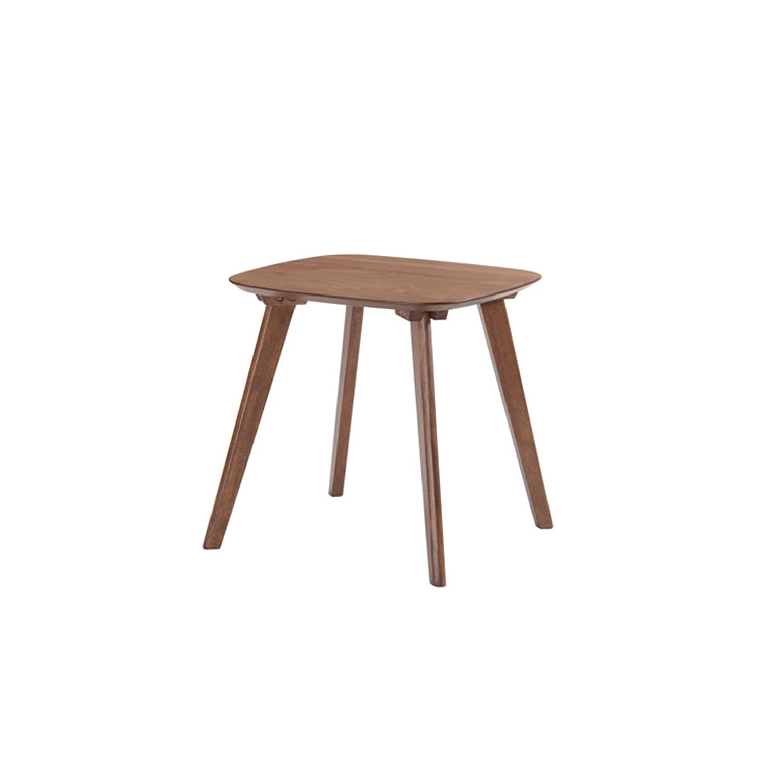 Emerald Home Simplicity Walnut Brown Coffee Table with Curved, Tear Drop Shaped Top And Round, Slanted Legs Emerald Home Furnishings T550-0