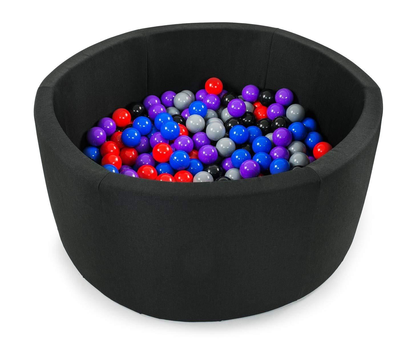 BKOZ1 Tweepsy B/éb/é Piscine A Balles pour Enfants Bambin 250 Balles 90x40cm Rond Fabriqu/é en EU