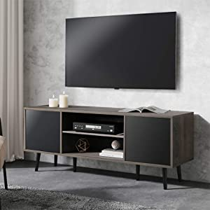 WAMPAT Mid Century TV Stand for TVs up to 65
