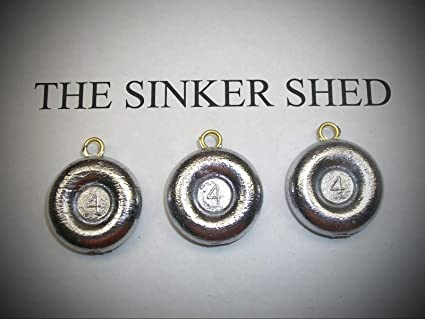 6oz Disc Surf And River Sinker Free Ship