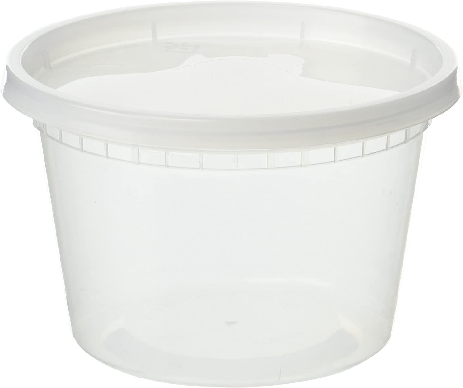 EDI D16050 Plastic Deli Food Storage Containers with Lids 50 Sets (16OZ)