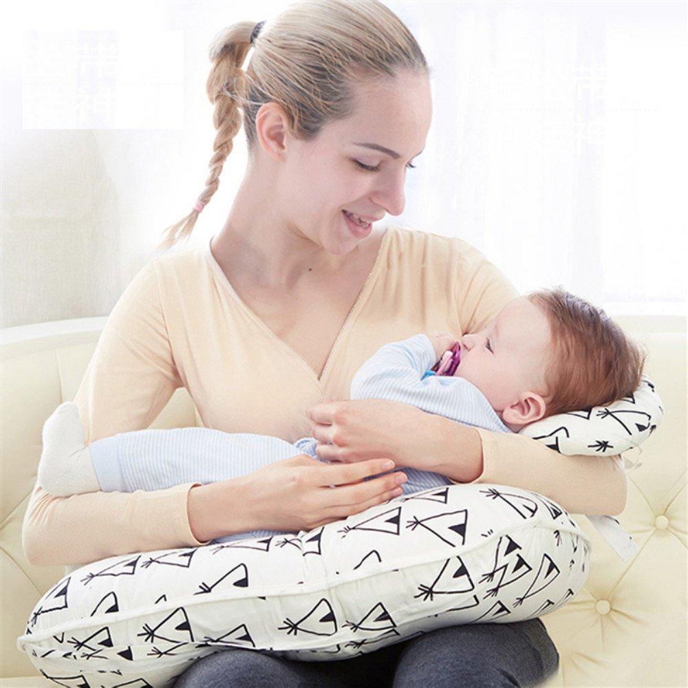 Tokkids Cojín de lactancia con reposacabezas del bebé, forro de algodón (Verde)