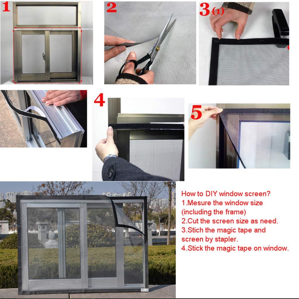 100x180cm FLAMEER Insektenschutz Fliegengitter M/ücken Insekten Gitter mit Klebeband f/ür Fenster