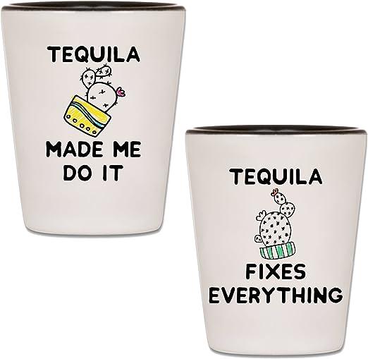 Amazoncom Tequila Shot Glasses Set Of 2 Taco Tuesday