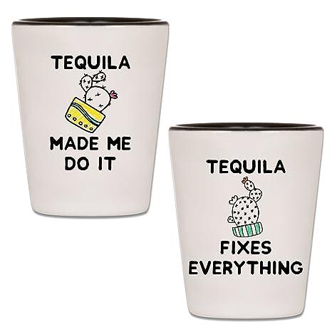Amazon.com | Tequila Shot Glasses - Set Of 2 Taco Tuesday ...